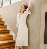 韓版睡裙女夏吊帶清新學生性感冰絲帶胸墊長款兩件套套裝 DN9042【VIKI菈菈】