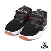 DC 新竹皇家 Kalis 黑色 皮質 布質 休閒運動鞋 男款 NO.B0385