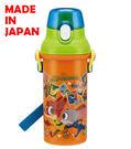 里和家居  迪士尼動物方城市 日本製單手彈蓋直飲水壺480ml 飲料壺 隨手杯