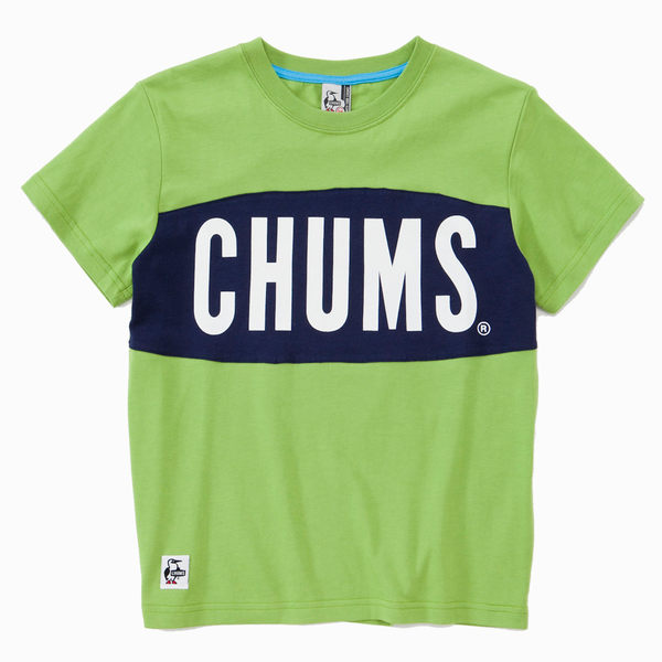 CHUMS 日本 女 大LOGO 短袖T恤 萊姆綠 CH111101M014