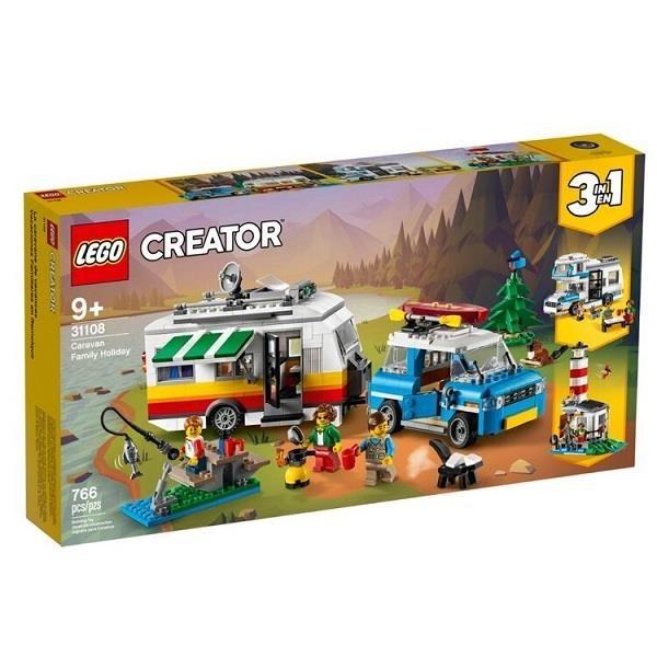 【南紡購物中心】【LEGO 樂高積木】創意大師Creator系列-家庭假期露營車 (766pcs)31108