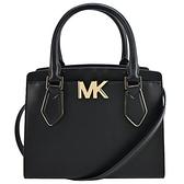 【南紡購物中心】MICHAEL KORS MOTT三層手提斜背兩用包-中/黑