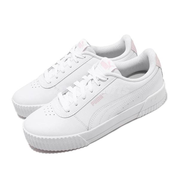 Puma 休閒鞋 Carina L 白 粉紅 女鞋 基本款 運動鞋 【ACS】 37032529