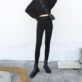 入店必敗CHIC VEN自制復古高腰小腳牛仔褲修身顯瘦九分鉛筆褲子女