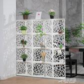 簡約現代屏風隔斷客廳臥室移動雕花雙面辦公室美容院小戶型折屏 原本良品