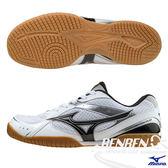 MIZUNO美津濃 桌球鞋 (白*黑) CROSSMATCH RX3 橡膠大底 入門基本款 81GA163009