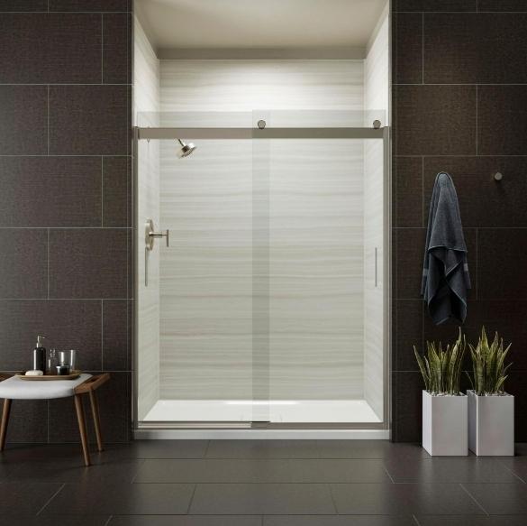【麗室衛浴】美國KOHLER  K-22187T-L 一固一活 兩片式  淋浴房 目錄及說明書