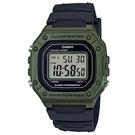 CASIO 卡西歐 經典防 運動手錶(W-218H-3A 綠)