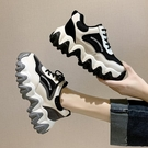老爹鞋 老爹鞋女夏季透氣秋季新款百搭魚骨休閒運動鞋鞋子-Ballet朵朵