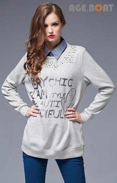 【AGE BOAT】秋冬品牌服飾特賣~直紋布假領套 NO.152224