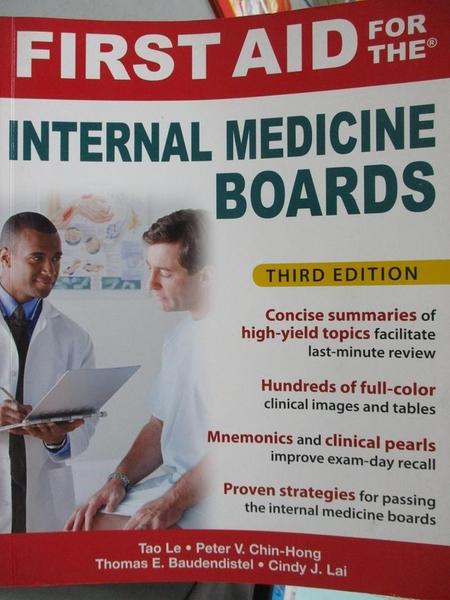 【書寶二手書T8/大學理工醫_QIK】First Aid for the Internal Medicine Board
