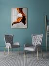 北歐輕奢餐椅現代簡約網紅書椅休閑家用椅子餐廳酒店靠背椅化妝椅 果果輕時尚
