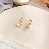 耳環 個性 打結 金屬 珍珠 水鑽 拼接 不對稱 氣質 耳釘 耳環【DD1904185】 icoca  05/09