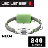 【速捷戶外】德國 LED LENSER NEO4戶外運動休閒頭燈  綠 240流明~適合 登山/工作燈/露營燈/野營