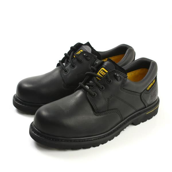CAT 鋼頭鞋 真皮 橡膠底 耐磨 低筒 戶外休閒鞋 黑色 男鞋 no069