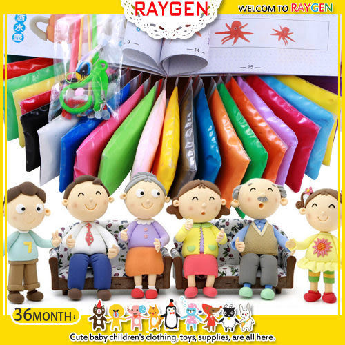 玩具 24色 超輕 黏土 材料 工具 組合