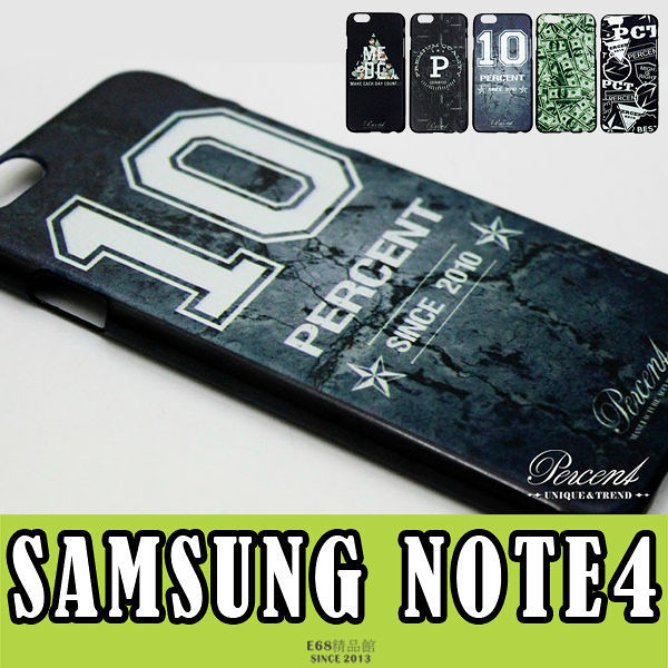 E68精品館 三星 NOTE4 台灣品牌 PERCENT 設計 彩繪 貼皮 仿皮 印刷 背蓋 硬殼 保護套 手機殼 N9100