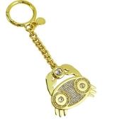 【南紡購物中心】MICHAEL KORS ZODIAC CHARMS水晶鑰匙圈-巨蟹座/金
