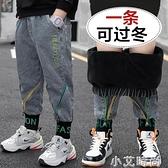 兒童裝男童加絨褲子秋冬款2020新款中大童牛仔褲加厚一體絨冬季潮 小艾新品