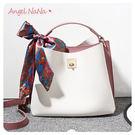 手提包-小香風時尚撞色拼色女斜背包 (SBA0242) AngelNaNa