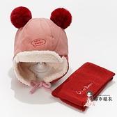 兒童雷鋒帽 兒童保暖帽秋冬季男童女童雷鋒帽加厚可愛帽帽子冬天
