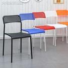 餐椅椅子現代簡約餐椅懶人靠背椅休閒椅家用塑料凳子書桌椅創意辦公椅YJT 快速出貨
