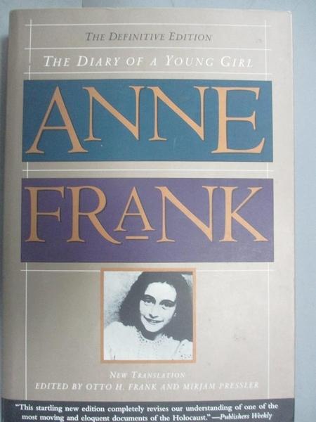 【書寶二手書T1/傳記_OND】Diary of a Young Girl-The Definitive Edition_Frank