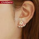 耳環 卡洛美飾品 925銀針雛菊母貝花耳環耳釘女 氣質韓國簡約耳墜耳飾
