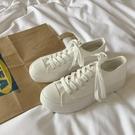 增高厚底小白鞋女2020新款韓版學生白色帆布板鞋百搭ins街拍潮鞋 【ifashion·全店免運】