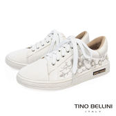 Tino Bellini 華麗珍珠繡花綁帶休閒鞋 _白 C73412  2017SS  網拍限定款