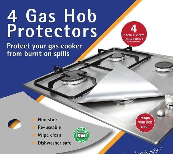 加厚【SG179】煤氣灶爐面保護墊 4片裝 玻璃纖維爐頭保護墊Gas Hob Protector 防汙耐高溫防護墊瓦斯爐