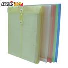 【客製化】 HFPWP 加大直式文件袋加燙金PP附繩立體壓花透明文件袋 環保材質 台灣製 GF119-BR