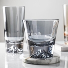 日式富士山杯子玻璃透明網紅高顏值家用水晶...