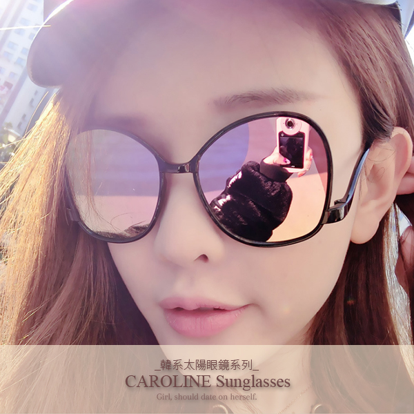 《Caroline》年度最新網紅款潮流百搭抗UV時尚太陽眼鏡 71938