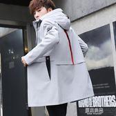 秋裝夾克外套男士韓版修身青少年中長款潮流帥氣春季外衣褂子    原本良品