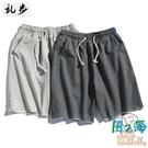青年運動短褲休閒褲子男士寬鬆百搭夏季薄款五分衛褲【風之海】