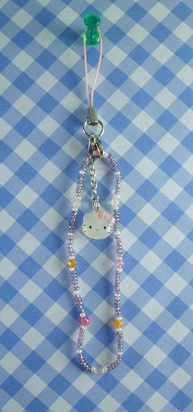 【震撼精品百貨】Hello Kitty 凱蒂貓~限定版手機吊鍊-紫珠粉