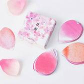 【BlueCat】陌墨粉色櫻花花瓣裝飾盒裝貼紙 (45入)