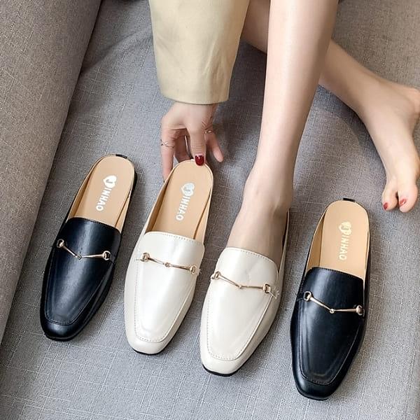 【百搭穆勒鞋】MIT金屬鍊條拖鞋 白鳥麗子(四色任選/限時優惠)