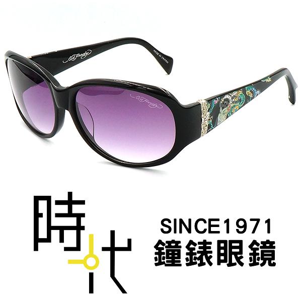 【台南 時代眼鏡 ED Hardy】墨鏡太陽眼鏡 GEISHA & DRAGON BLACK 美式潮流x日本工藝