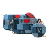【台中米蘭站】全新品 Louis Vuitton Multi Pochette Accessoires混合式斜背包(M44990-單寧款)