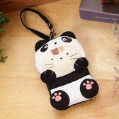 Kiro貓‧熊貓造型 透明視窗識別證/零錢包/鑰匙收納包 【222225】