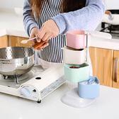 樂彼小麥秸稈調味罐立式旋轉調料盒廚房調味盒調料罐套裝佐料盒  Cocoa