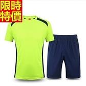 緊身衣套裝含健身重訓衣+緊身褲-輕便舒適休閒足球運動服4色69m35[時尚巴黎]
