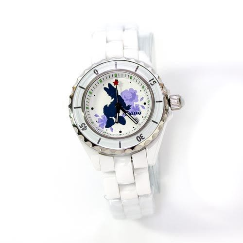 ★funbox生活用品★迪士尼黛西剪影陶瓷錶_ID99106