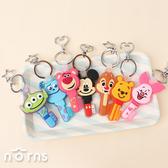 迪士尼果凍矽膠鑰匙圈- Norns 正版授權吊飾 玩具總動員 小熊維尼 奇奇蒂蒂 史迪奇 毛怪 米奇米妮