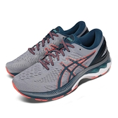 Asics 慢跑鞋 Gel-Kayano 27 4E Extra Wide 超寬楦頭 灰 橘 男鞋 輕量透氣 運動鞋 【ACS】 1011A833021