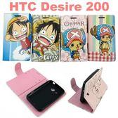 海賊王左右開支架皮套 HTC Desire 200 航海王 魯夫 喬巴【台灣正版授權】