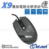 X9 鷹族電競光學USB滑鼠