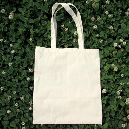 換換包!Changebag!素色全棉手提購物袋